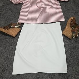 White skirt size 4 zipper back from The Limited